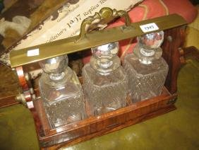 Late 19th or early 20th Century burr walnut and brass