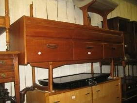 Mid 20th Century teak six drawer dressing table