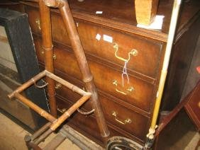 Small 20th Century mahogany and crossbanded four drawer