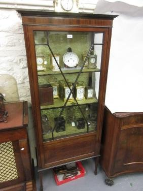 Edwardian mahogany and inlaid display cabinet with a