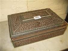 19th Century Anglo Indian carved sandalwood rectangular