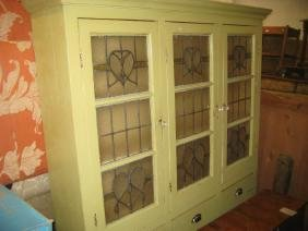 Late 19th or early 20th Century painted pine kitchen