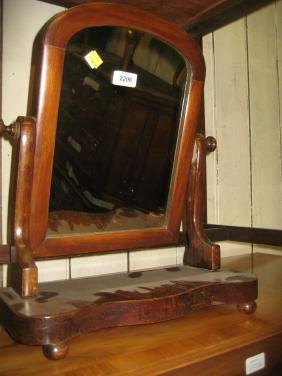 Victorian mahogany swing frame toilet mirror with a