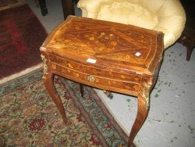 19th Century floral marquetry and kingwood work table