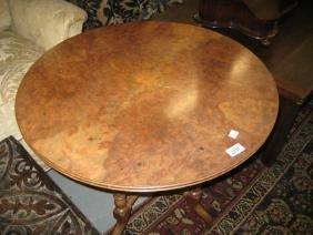 Early 20th Century circular burr walnut occasional