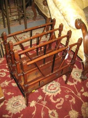Late 19th or early 20th Century mahogany three division