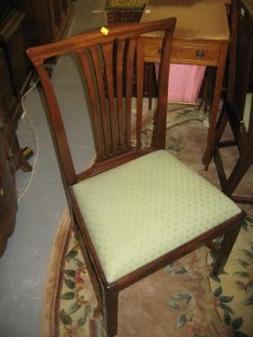 Set of six 19th Century mahogany dining chairs in