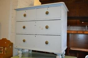 19th Century white painted chest of two short over two