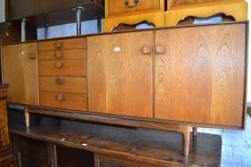 Mid 20th Century Danish teak sideboard with five