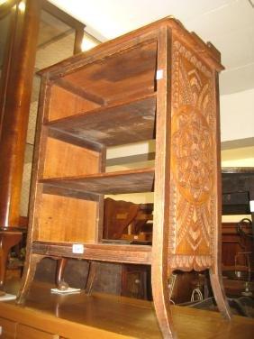 20th Century mahogany four shelf open bookcase with