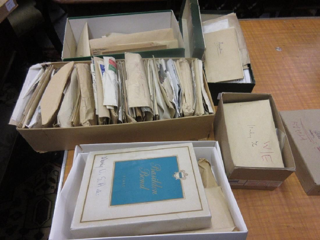 Two boxes containing a collection of French, West