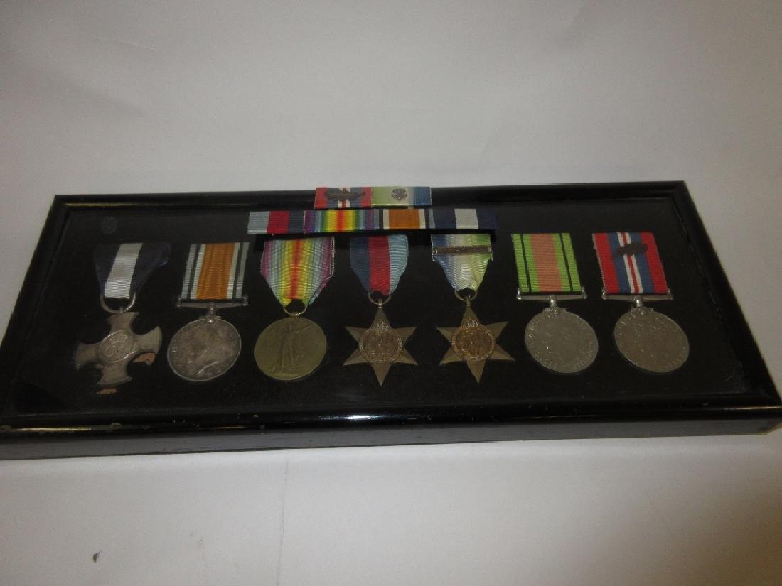 World War I / World War II seven medal D.S.C. group to