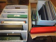 Two boxes containing a large collection of