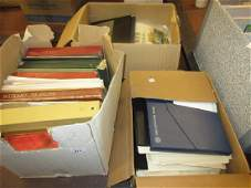 Three boxes containing a large collection of