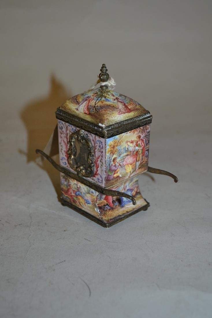 18th / 19th Century Viennese silver and enamel perfume