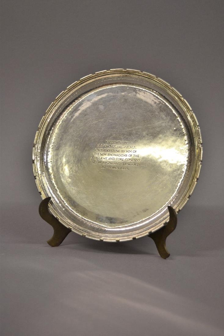 Omar Ramsden, a George V silver salver with a moulded