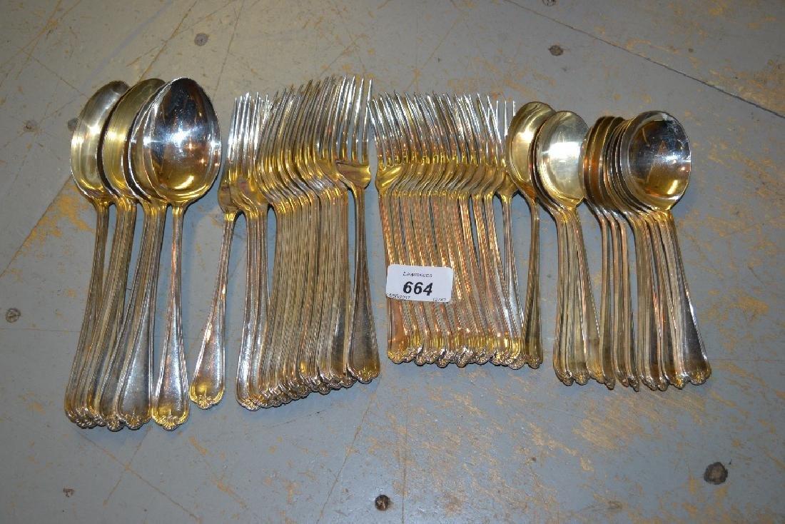 Set of twelve silver dinner forks, Sheffield 1933,