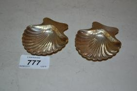 Pair Of Tiffany And Co. Sterling Silver Scallop Form