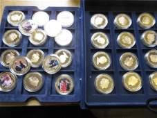 Set of thirty Elizabeth II proof gold plated nickel