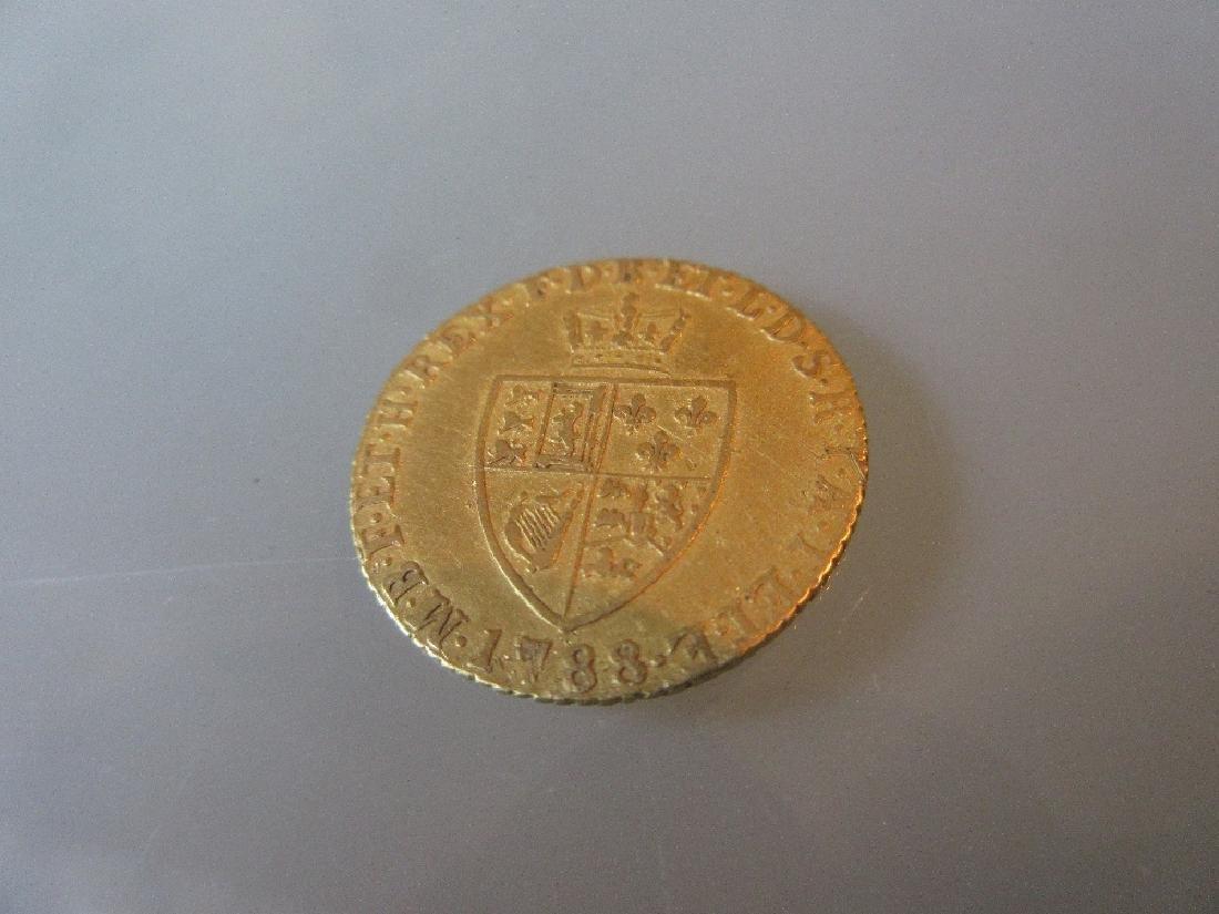 George III gold half guinea dated 1788