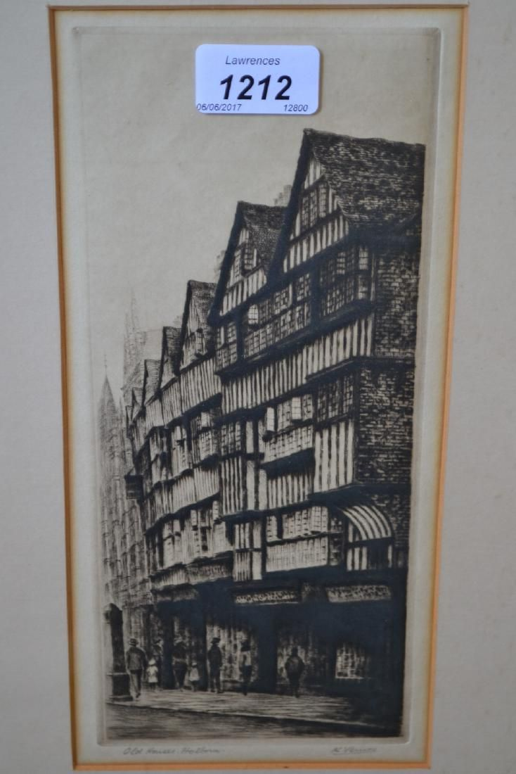 K. Vernon, two artist proof signed etchings, ' St