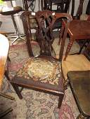 George III mahogany Chippendale style side chair having
