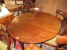 Large good quality 18th Century Cuban mahogany oval