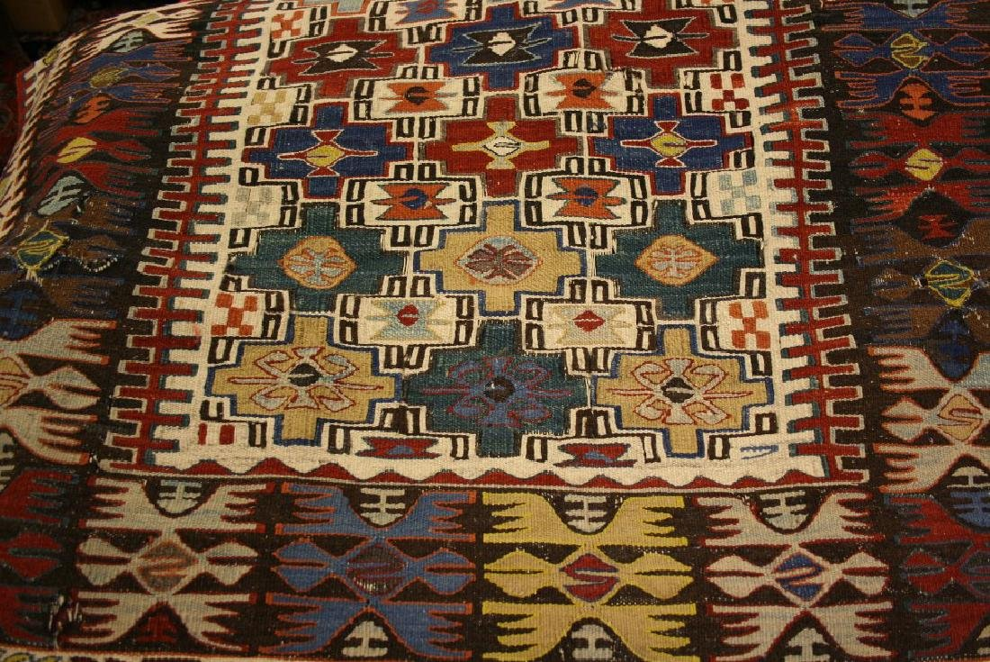 Caucasian Kelim rug with an all-over stylised design
