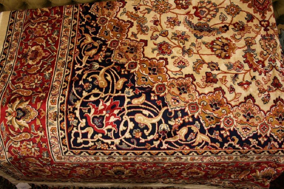 Kashan style machine woven beige ground carpet, 2.80 x