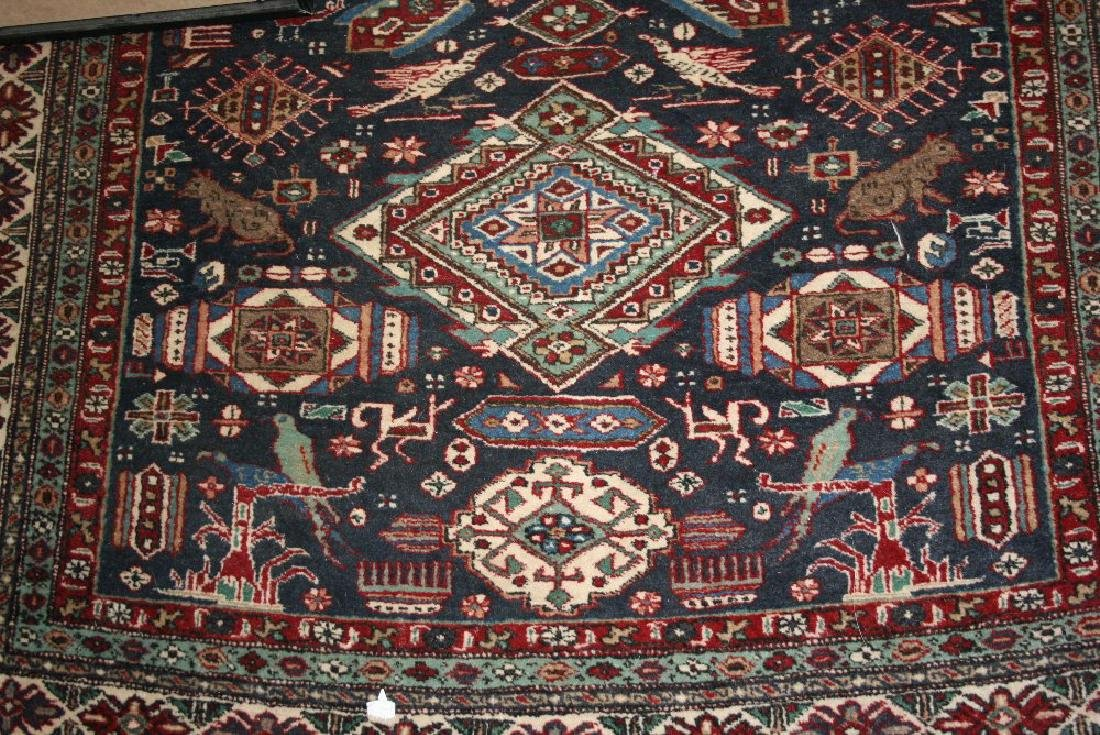 Ardebil rug with a triple medallion and all-over flower