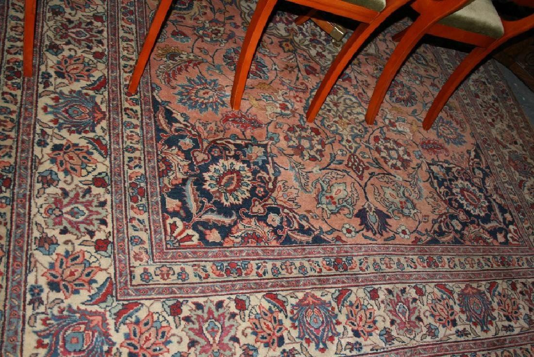 Tabriz carpet with a lobed medallion and all-over