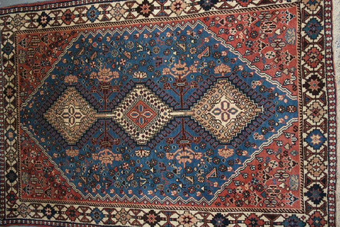Small South West Persian rug with a triple hooked