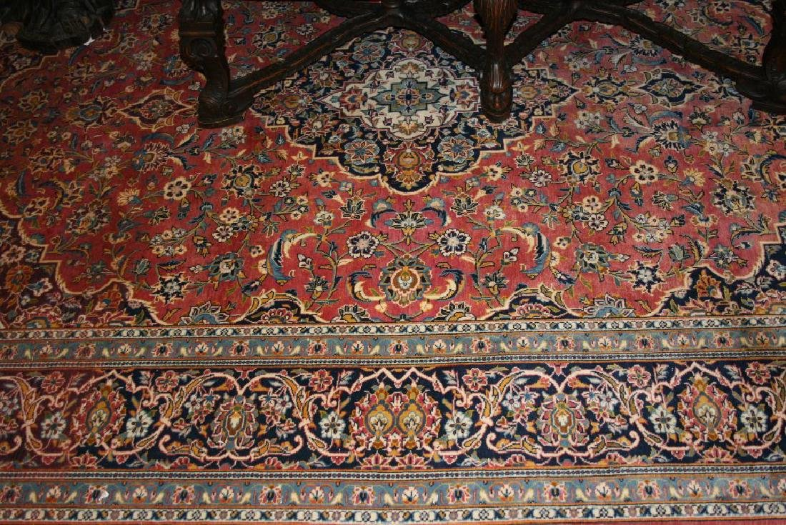 Modern Kashan carpet with a lobed medallion and