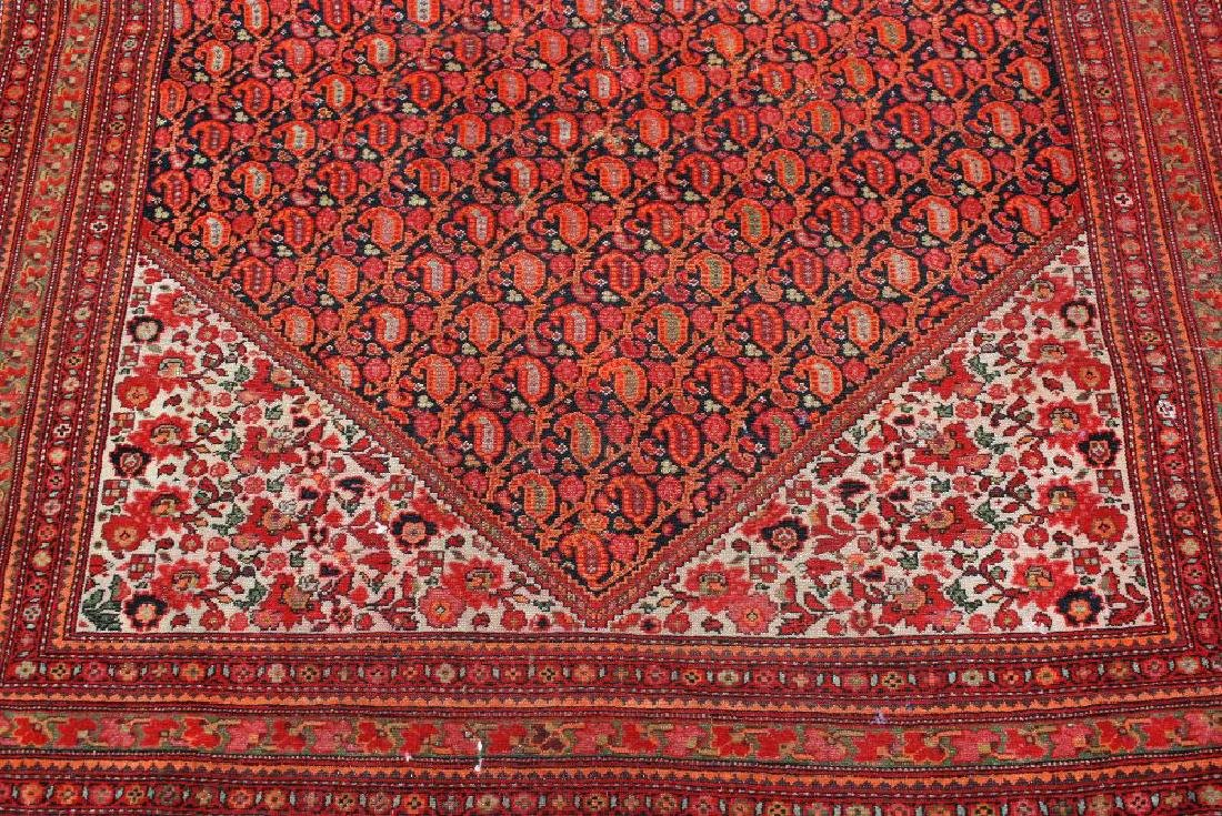 Antique Senneh rug of all-over Boteh design with