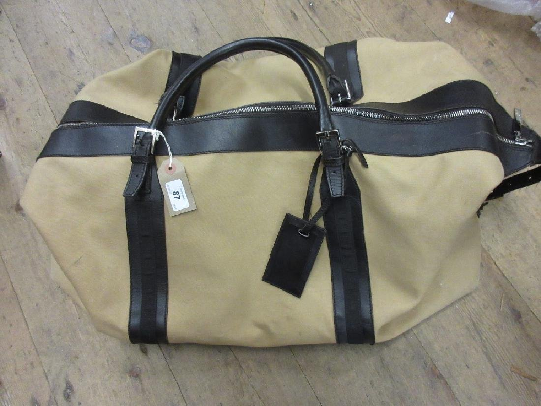 Gucci gentleman's leather mounted holdall