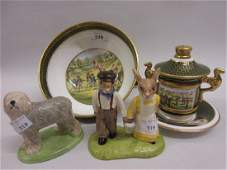 Spode Limited Edition antique golfing scenes bowl No