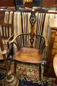 Early 19th Century elm and fruitwood Windsor chair, the
