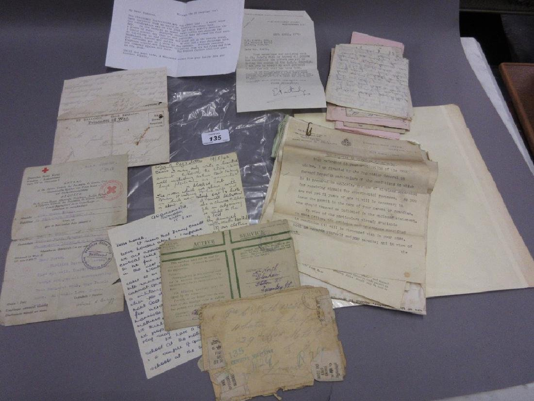 German World War I prisoner of war letter together with
