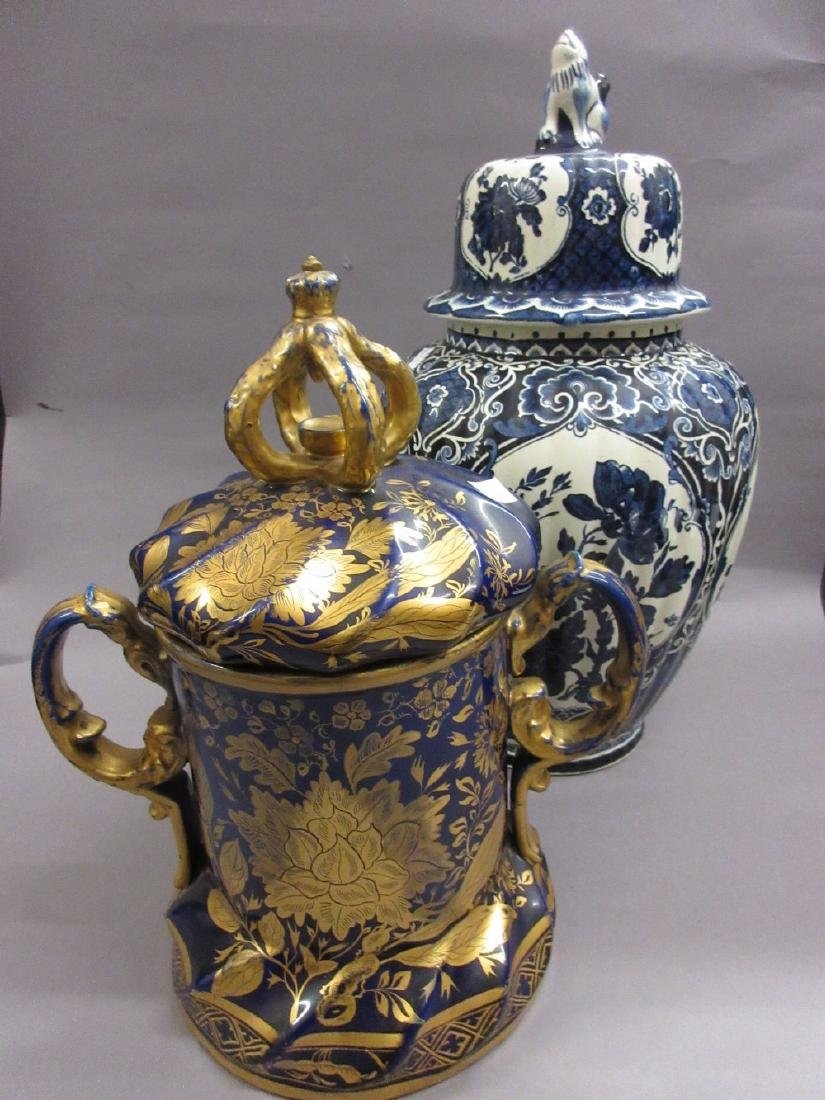 Large 19th Century Ironstone two handled vase with