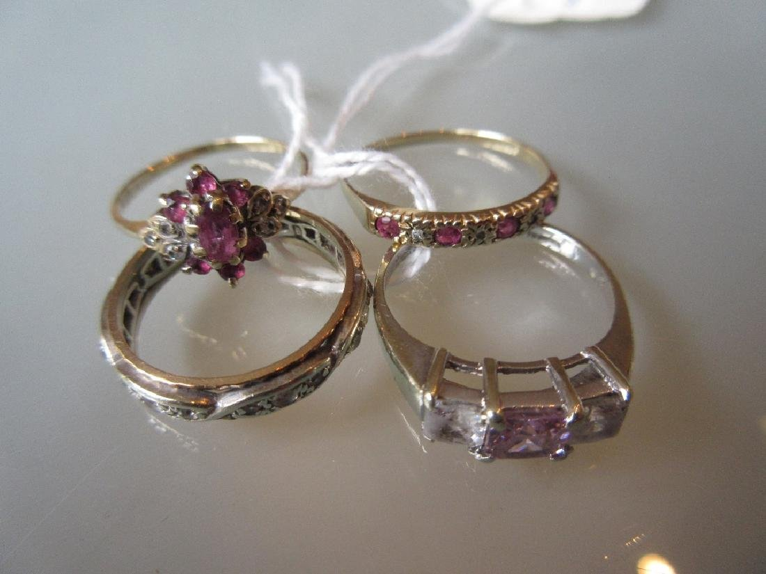 Four various 9ct gold dress rings