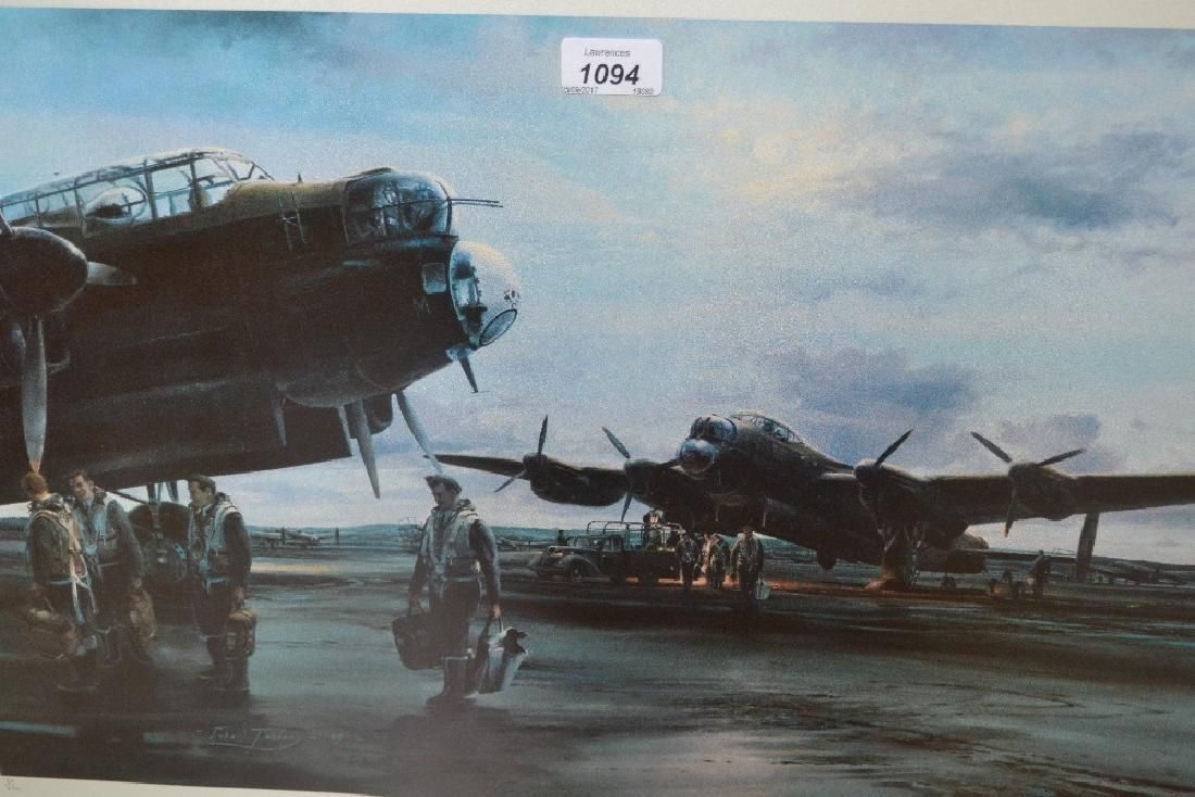 Two Robert Taylor framed prints, ' Lancaster ' and '