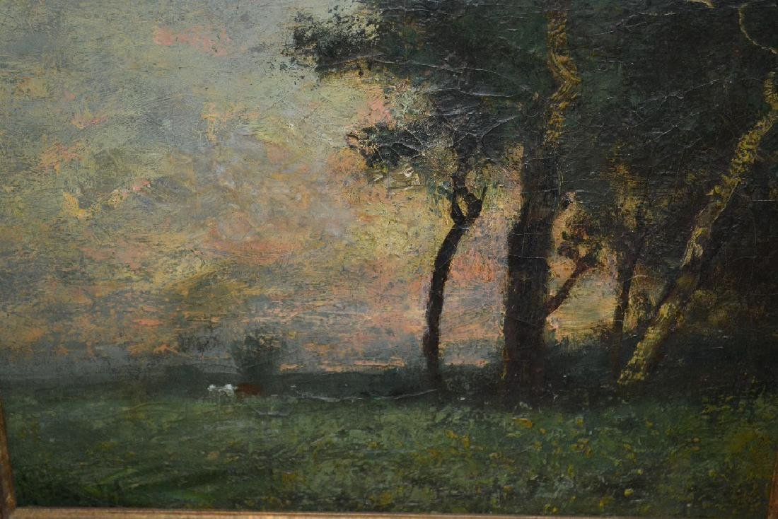 Attributed to George Boyle, oil on canvas, view across
