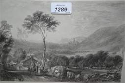 Pair of 19th Century black and white engravings Hornby