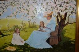 D. Fuller, 20th Century oil on canvas, mother and