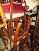 Edwardian inlaid bedroom chair, a Victorian walnut side