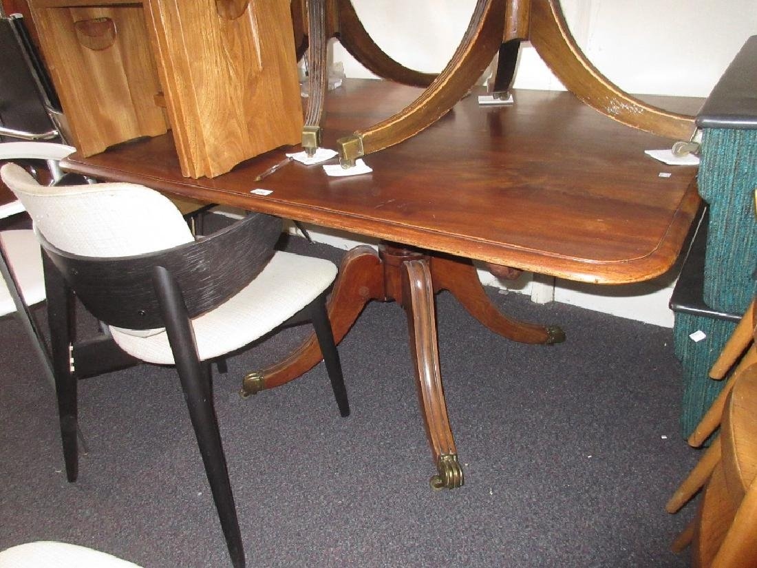 George IV rectangular mahogany pedestal breakfast table