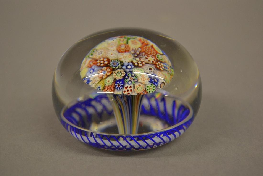19th Century Baccarat glass Millefiori mushroom