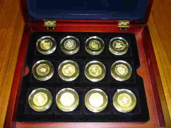 Queen Elizabeth II Golden Jubilee, cased set of twelve