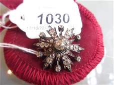 Victorian white and yellow gold star form diamond set