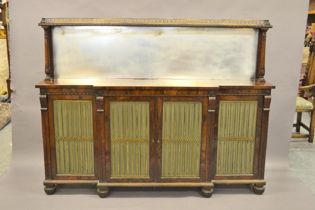 Good quality William IV rosewood breakfront side